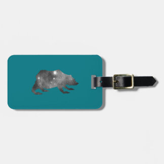 PLAYFULLY COOL UNIVERSE BEAR LUGGAGE TAG