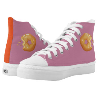 Playfully Delicious Mouth Watering Donut High Tops