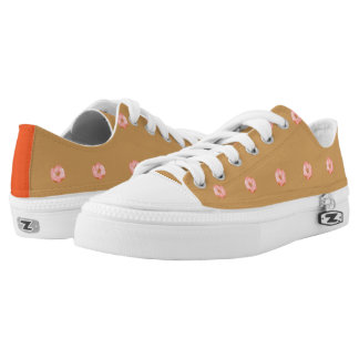 Playfully Delicious Mouth Watering Donut Low Tops