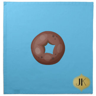 Playfully Delicious Mouth Watering Donut Napkin