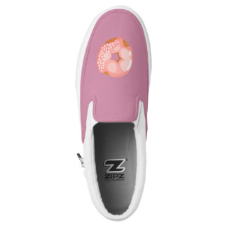 Playfully Delicious Mouth Watering Donut Slip On Shoes