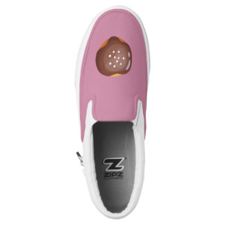 Playfully Delicious Mouth Watering Donut Slip-On Shoes