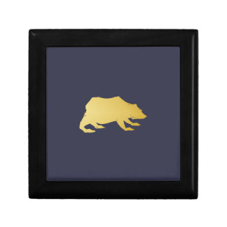 Playfully Elegant Hand Drawn Gold Actionable Bear Gift Box