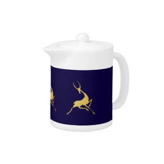 Playfully Elegant Hand Drawn Gold Gazelle