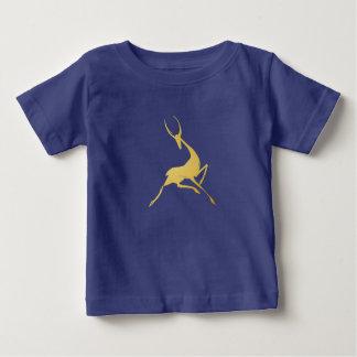 Playfully Elegant Hand Drawn Gold Gazelle Baby T-Shirt