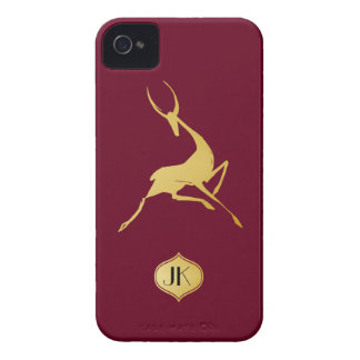 Playfully Elegant Hand Drawn Gold Gazelle iPhone 4 Cover
