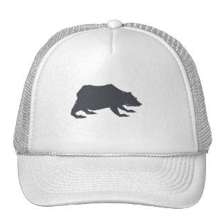 Playfully Elegant Hand Drawn Grey Actionable Bear Cap