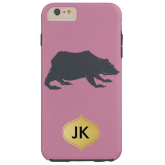 Playfully Elegant Hand Drawn Grey Actionable Bear Tough iPhone 6 Plus Case