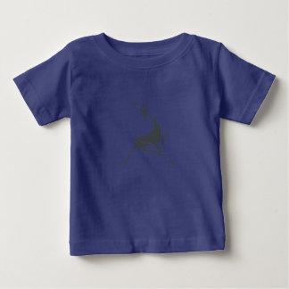 Playfully Elegant Hand Drawn Grey Gazelle Baby T-Shirt