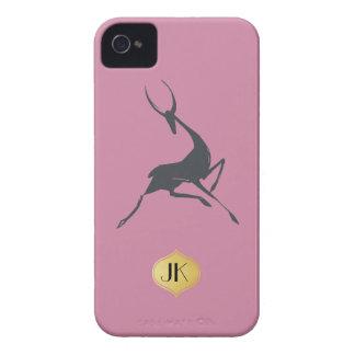 Playfully Elegant Hand Drawn Grey Gazelle iPhone 4 Cover