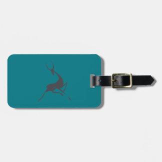 Playfully Elegant Hand Drawn Grey Gazelle Luggage Tag