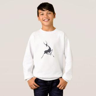 Playfully Elegant Hand Drawn Grey Gazelle Sweatshirt