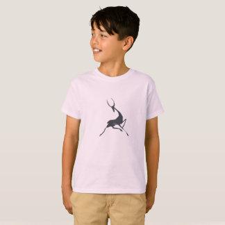 Playfully Elegant Hand Drawn Grey Gazelle T-Shirt