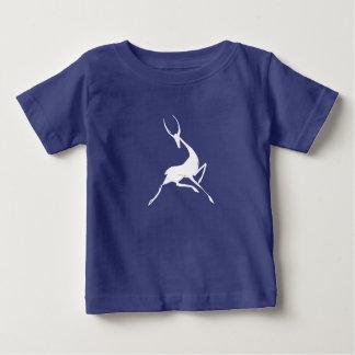 Playfully Elegant Hand Drawn White Gazelle Baby T-Shirt