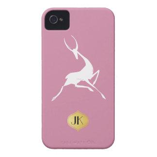 Playfully Elegant Hand Drawn White Gazelle iPhone 4 Covers