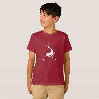 Playfully Elegant Hand Drawn White Gazelle T-Shirt