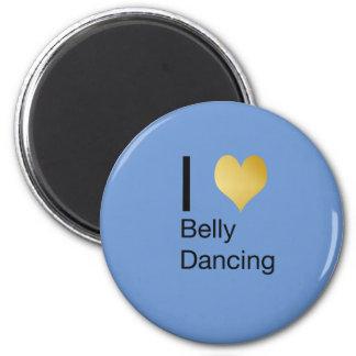 Playfully Elegant I Heart Belly Dancing Magnet