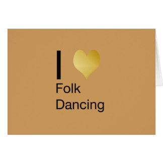 Playfully Elegant I Heart Folk Dancing Card