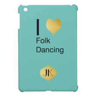 Playfully Elegant I Heart Folk Dancing iPad Mini Cover