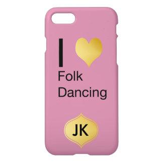 Playfully Elegant I Heart Folk Dancing iPhone 7 Case