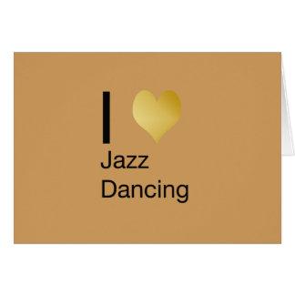 Playfully Elegant I Heart Jazz Dancing Card