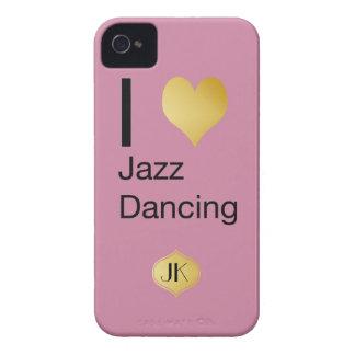 Playfully Elegant I Heart Jazz Dancing Case-Mate iPhone 4 Cases