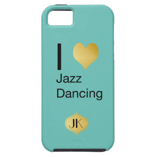 Playfully Elegant I Heart Jazz Dancing Tough iPhone 5 Case