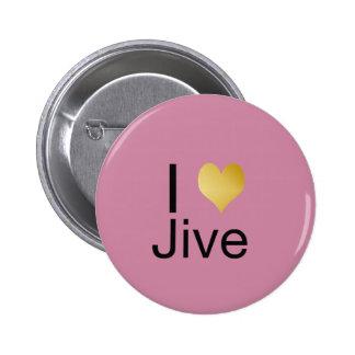Playfully Elegant I Heart Jive 6 Cm Round Badge
