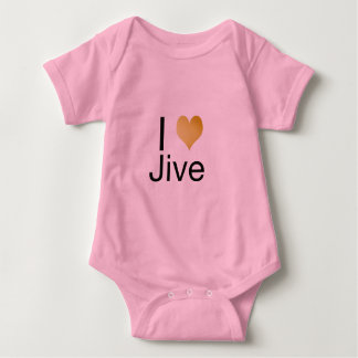 Playfully Elegant I Heart Jive Baby Bodysuit