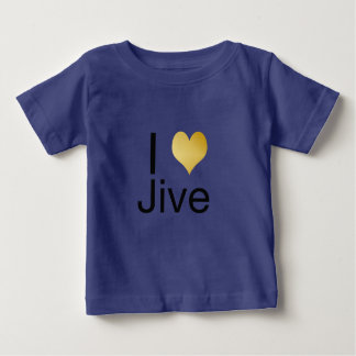 Playfully Elegant I Heart Jive Baby T-Shirt