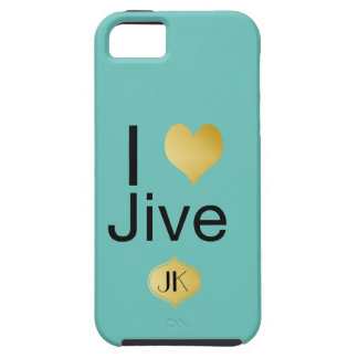 Playfully Elegant I Heart Jive Case For The iPhone 5