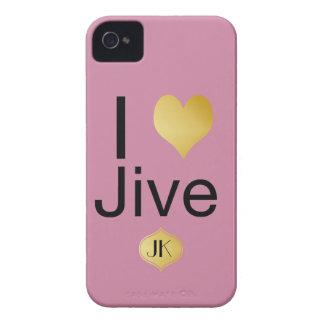 Playfully Elegant I Heart Jive Case-Mate iPhone 4 Case
