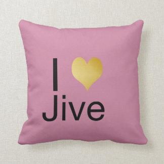 Playfully Elegant I Heart Jive Cushion