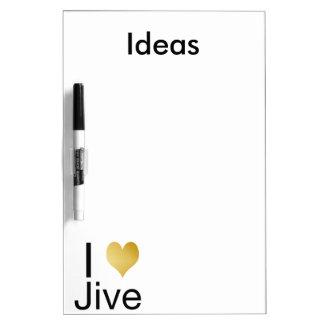 Playfully Elegant I Heart Jive Dry Erase Boards