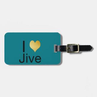 Playfully Elegant I Heart Jive Luggage Tag