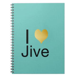 Playfully Elegant I Heart Jive Notebooks
