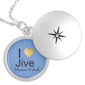 Playfully Elegant I Heart Jive Silver Plated Necklace