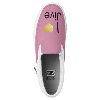 Playfully Elegant I Heart Jive Slip-On Shoes