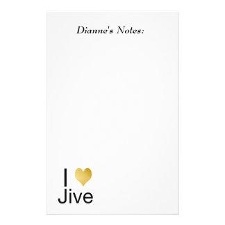 Playfully Elegant I Heart Jive Stationery Paper