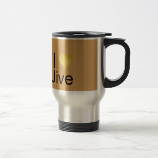 Playfully Elegant I Heart Jive Travel Mug