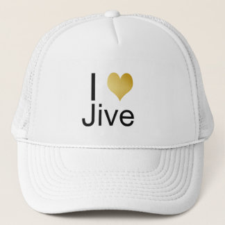 Playfully Elegant I Heart Jive Trucker Hat