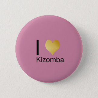 Playfully Elegant I Heart Kizomba 6 Cm Round Badge