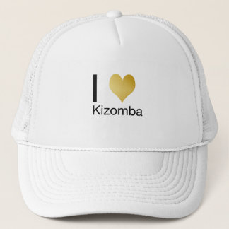 Playfully Elegant I Heart Kizomba Trucker Hat