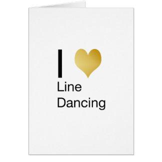 Playfully Elegant  I Heart Line Dancing Card