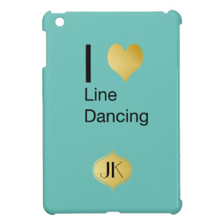 Playfully Elegant  I Heart Line Dancing iPad Mini Covers