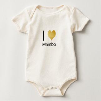 Playfully Elegant I Heart Mambo Baby Bodysuit