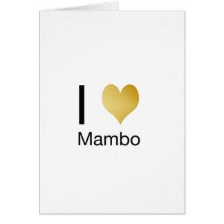 Playfully Elegant I Heart Mambo Card