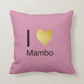 Playfully Elegant I Heart Mambo Cushion