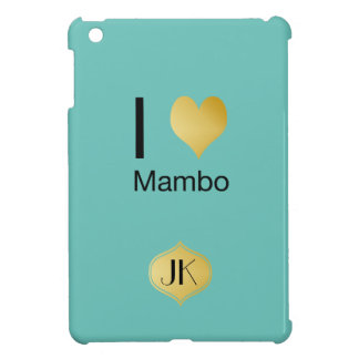 Playfully Elegant I Heart Mambo iPad Mini Covers