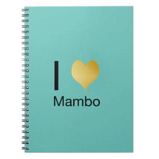 Playfully Elegant I Heart Mambo Spiral Notebook